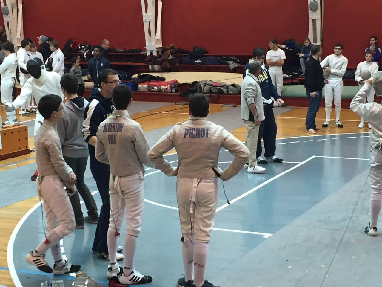 """L""""équipe cadets en action"""