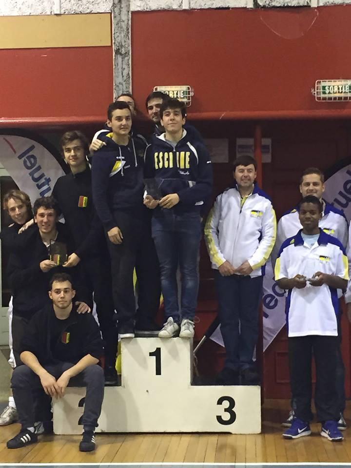 Le podium équipe - seniors