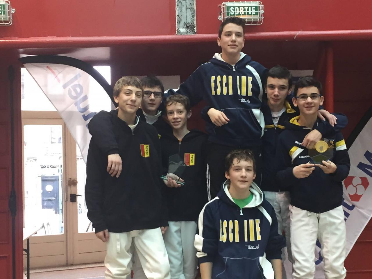 Le podium equipe cadets 3