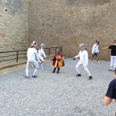 Démonstration au chateau de Malbrouck