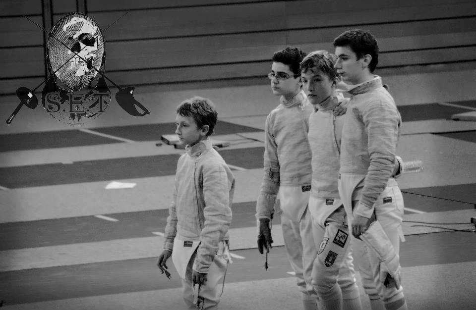 Equipe masculine (Noé, Alexandre, Maxime et Adrien)