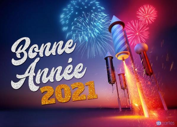 Carte bonne annee 2021 feu artifice 123cartes com